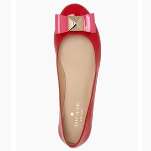 Kate Spade Red Patent Tula Ballet Flat